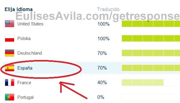 seleccionar castellano el idioma del autoresponder