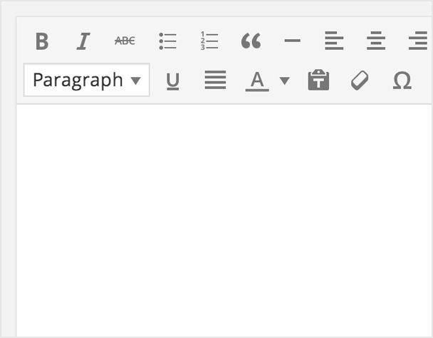 editor visual wordpress