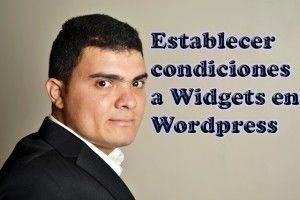 Establecer condiciones Widget en WordPress